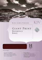 KJV Giant Print Reference Bible, Bonded leather, Burgundy,  Thumb-Indexed