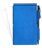 Blank/Memo Holder With Pen, Blue