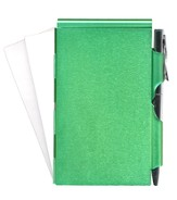 Blank, Memo Holder With Pen, Green