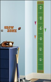 Play Ball Vinyl Wall Growth Chart