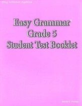Easy Grammar Grade 5 Test Book