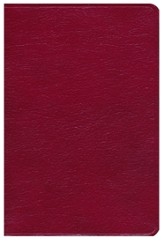 KJV Giant Print Reference Bible, Genuine leather, Burgundy, Thumb-Indexed - Slightly Imperfect