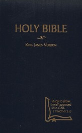 KJV Drill Bible, hardcover, blue  - Slightly Imperfect