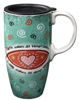 Faith Makes All Things, Latte Mug