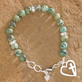Floating Heart, Cross Bracelet