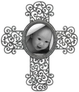 Scrolled Cross Photo Frame