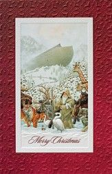 Merry Christmas, Noah and The Ark Cards, Box of 16