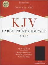 KJV Holman Large Print Compact Bible, Black Bonded Leather