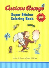 Curious George Super Sticker Coloring Book