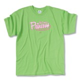 Yes I Am a Princess T-Shirt, Lime Green, Large (42-44)
