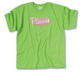 Yes I Am a Princess T-Shirt, Lime Green, Youth Medium