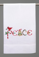 Christmas Guest Towel, Peace