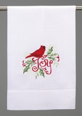 Christmas Guest Towel, Joy Cardinal