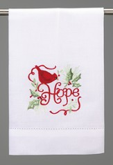 Christmas Guest Towel, Cardinal Hope