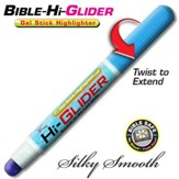 Bible Hi-Glider Gel Stick Marker, Blue