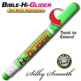Bible Hi-Glider Gel Stick Marker, Green
