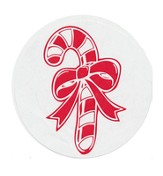 Christmas Candy Cane 2.5 Labels, 100