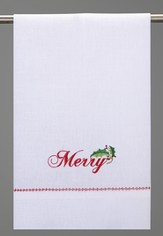 Christmas Guest Towel, Merry Holly