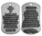Psalm 91:1-2/Joshua 1:9-Antique Finish Dog Tag