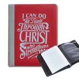 I Can Do All Things, Red Photo Wallet with Magnetic Strip