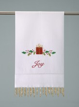 Christmas Guest Towel, Beaded Joy