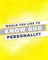 Would you Like to Know God Personally?  Gold pamphlet 25 pack