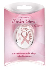 Courage Pink Ribbon Pocket Stone