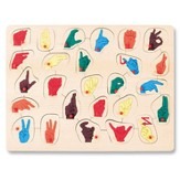 Sign Language Peg Puzzle