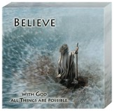 The Bible, Believe, With God All Things Are Possible, Canvas Art