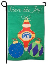 Share The Joy Of Christmas, Small Applique Flag