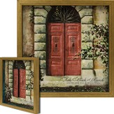 Ask, Seek, Knock, Red Door Framed Art