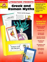 Literature Pockets: Greek and Roman Myths, Grades 4-6
