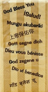 God Bless You, Many Languages, Tissue Pack