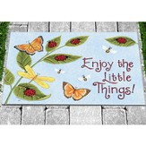 Enjoy the Little Things Door Mat