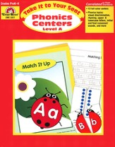Take It to Your Seat: Phonics Centers, Grades PreK-K