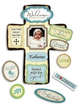 For This Child I Prayed Baptism Cross with Magnet Set