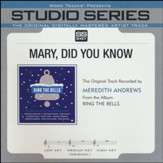 Mary Did You Know (Original Key Performance Track With Background Vocals) [Music Download]