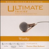 Worthy (Low Key Performance Track with Background Vocals) [Music Download]