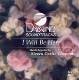 I Will Be Here, Accompaniment CD