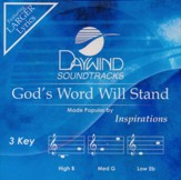 God's Word Will Stand, Acc CD