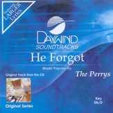 He Forgot, Accompaniment CD
