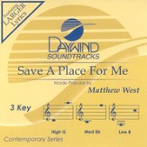 Save A Place For Me, Accompaniment CD
