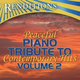 Peaceful Piano Tribute to Contemporary Hits, Volume 2 CD