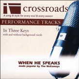 When He Speaks (Performance Track Original with Background Vocals in B) [Music Download]