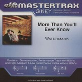 More Than You'll Ever Know, Accompaniment CD