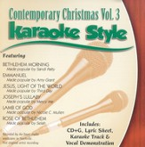 Contemporary Christmas, Volume 3, Karaoke Style CD
