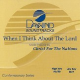 When I Think About The Lord, Accompaniment CD