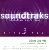 Lean On Me, Accompaniment CD