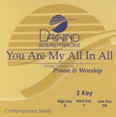 You Are My All In All, Accompaniment CD