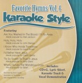 Favorite Hymns, Volume 4, Karaoke Style CD